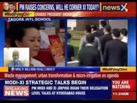 First Lady of China Peng Liyuan visits Tagore International School