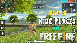 TOP 5 PLACES TO HIDE IN BERMUDA MAP | NEW SECRET PLACES FREE FIREFREE. | FIRE TRICKS AND TIPS