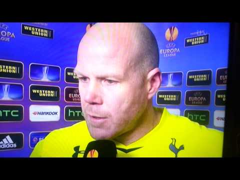 TOTTENHAM 2-2 BASEL INTERVIEW BRAD FRIEDEL  04/04/2013