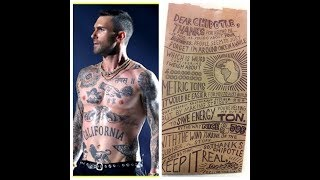 Adam Levine's torso looks like a Chipotle bag?! Daily Rant