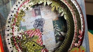 Скрапбукинг мастеркласс: Открытка Туннель (в коробочке) / The Workshop