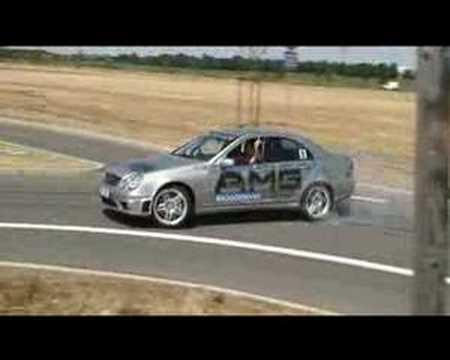 Mercedes Benz C55 AMG Drift around roundabout