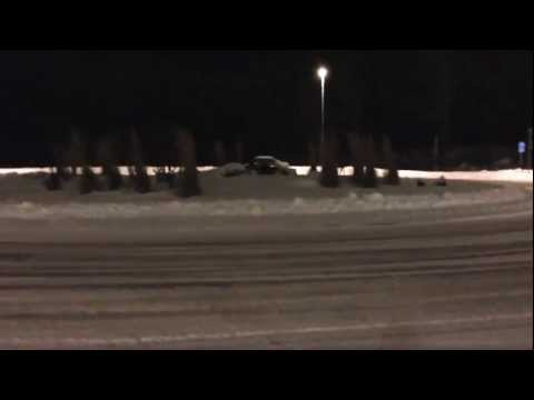 Audi s4 b5 2.7t snow drifting