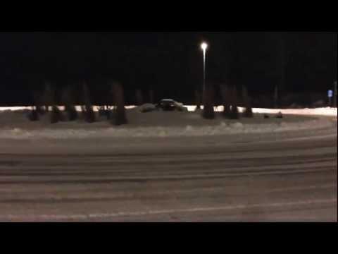 Audi s4 b5 2.7t snow drifting