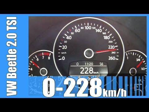 2013 VW Beetle 2.0 TSI 0-228 km/h DSG NICE! Acceleration