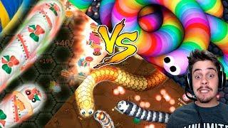 Slither.io vs Wormate.io vs LittleBigSnake.io - BATALHA DOS 3 MELHORES JOGOS DE MINHOCA ‹ AbooT ›