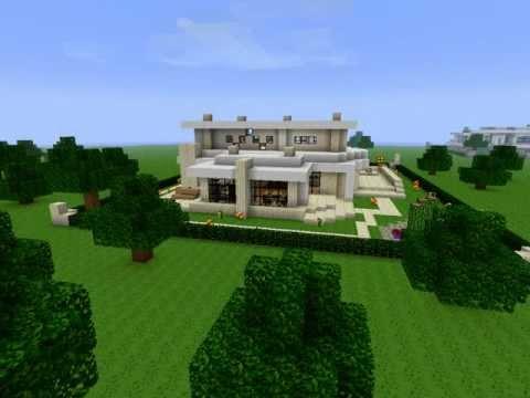 Minecraft modern neighborhood house three download hd