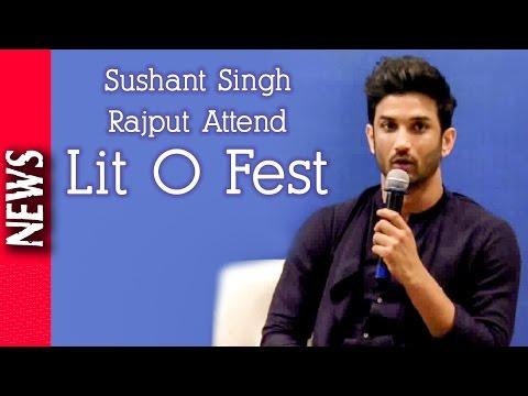 Latest Bollywood News - Sushant Singh Rajput Attends Lit O Fest - Bollywood Gossip 2016