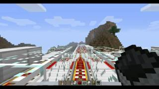 Minecraft new map High-speed Railway Overview