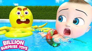 Colorful Water Slides | + More Kids Songs | Billion Surprise Toys