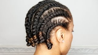 Basic Flat Twist Out | Natural Hair | Mane Choice Pink Lemonade & Coconut | FAIL