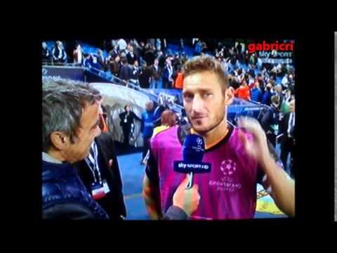 Manchester City Roma 1 1 gol Totti Record meglio di Ryan Giggs