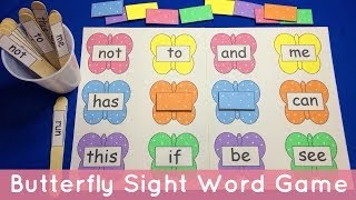Butterfly Sight Word File Folder Game - Preschool Learning Literacy Center