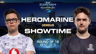 ShoWTimE vs HeRoMaRinE PvT - Round of 16 - WCS Fall 2019 - StarCraft II