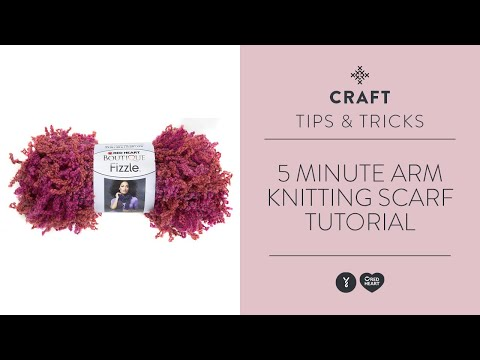 Crocheting Using Your Arms : Minute Arm Knitting Scarf Tutorial - YouTube