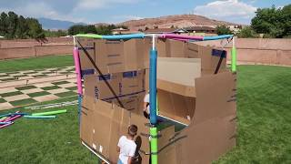 GIANT Orbeez Box Fort Ultimate Two Story Orbeez Slime Box Fortress CHALLENGE 2017!!