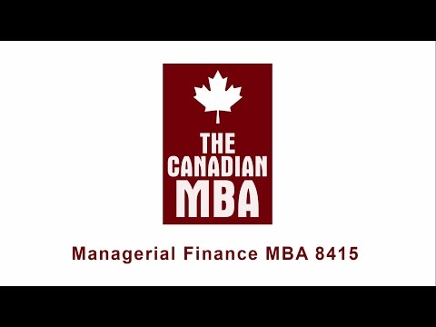 Managerial Finance MBA 8415