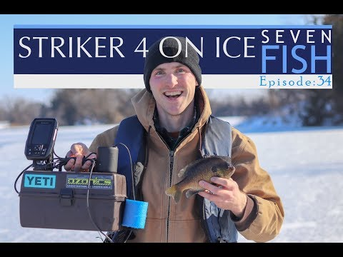 ICE FISHING with GARMIN STRIKER 4 & REVIEW! Episode 34
