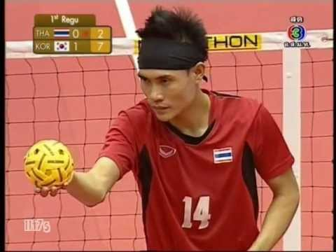 Tha - Kor Sepaktakraw King's Cup Men's Team (1st) video