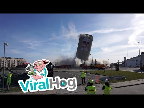Silo Demolition Fail  || ViralHog