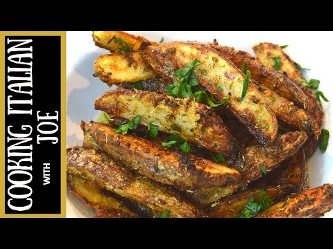World's Most Delicious Roasted Potato Wedges Cooking Italian with Joe