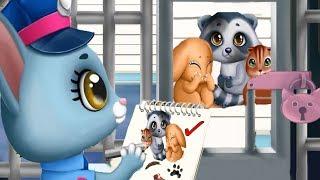 Fun Kitten Pet Care - Kitty Meow Meow Super Heroes City - Animal Rescue , Firefighter, Care Games