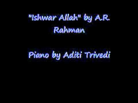 Ishwar Allah Piano video