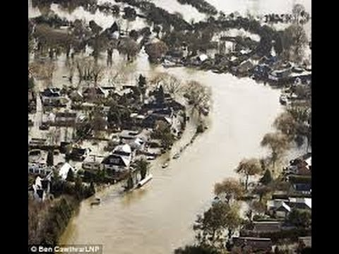 UK floods: Aerial footage of Thames floods