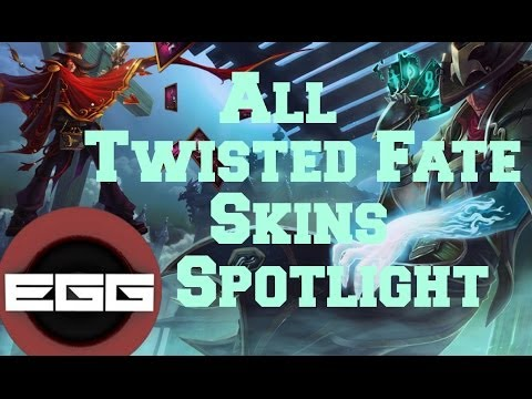 All Twisted Fate Skins Spotlight - League of Legends Skin Review [HD]