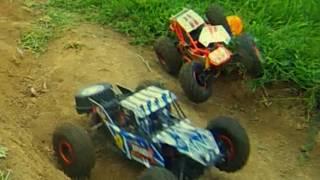 RC Monster Buggy VS RockRacer 4x4