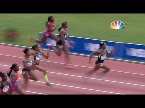 Fraser-Pryce wins Women's 100m, Tianna Madison second at 2012 adidas Grand Prix
