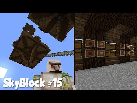 SkyBlock #15: Запуск Фермы Железа и Склад с Автоматической Сортировкой!