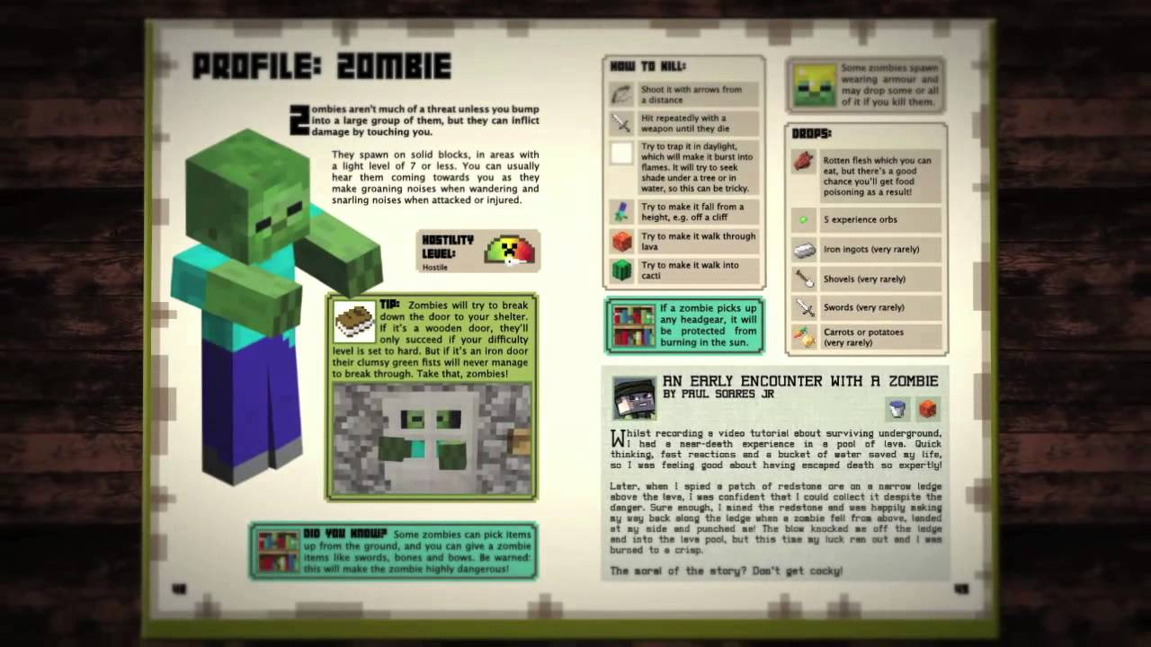 Minecraft Official Beginner S Handbook Youtube