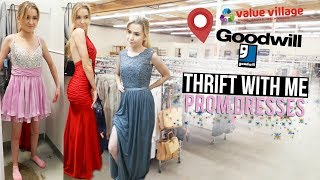 THRIFT WITH ME PROM DRESSES   Try-On & Vlog!!