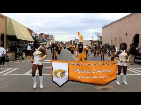 Twiggs County Marching Cobras at the Cochran Georgia MLK Jr Parade.