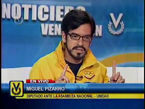 Entrevista Venevisión: Miguel Pizarro, diputado de la Asamblea Nacional-Unidad