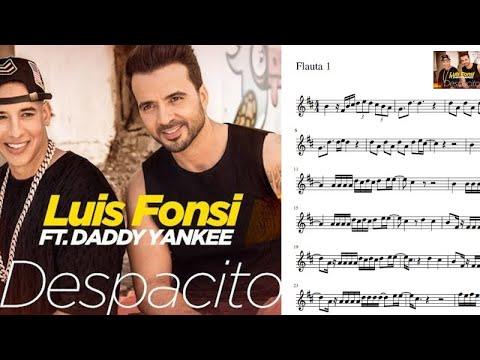 Despacito. Luis Fonsi & Daddy Yankee. Partitura flauta. #1