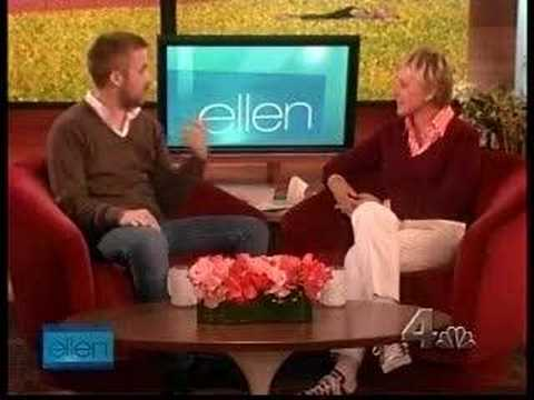 Ryan Gosling on the Ellen DeGeneres show