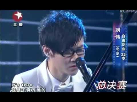 Pianista chino sin brazos gan un concurso de TV