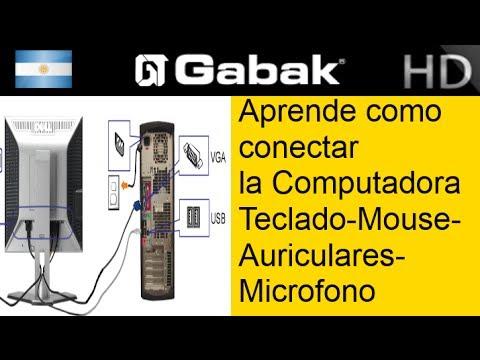 ¿Como conectar la pc? (teclado. mouse. parlantes. auriculares. etc) - Gabak Technologies