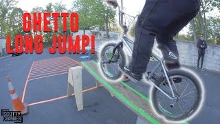 GHETTO BMX LONG JUMP CHALLENGE!
