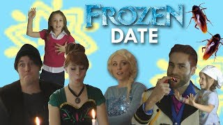Anna and Elsa Go on a FROZEN DATE in Real Life! | SamLandTV