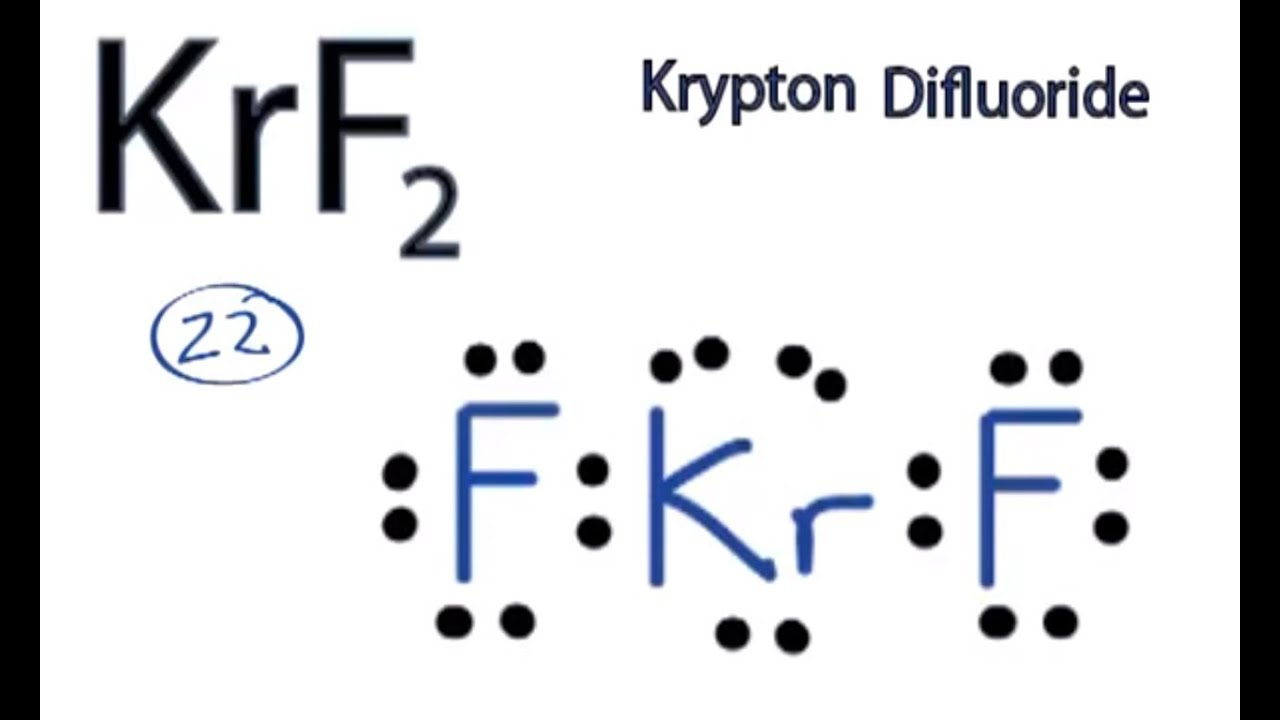 Xenon Difluoride Lewis Structure KrF2 Lewis Structure How to