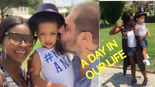DAY IN OUR LIFE / INTERRACIAL FAMILY VLOG /LIFE IN ATHENS (Μοναστηράκι)
