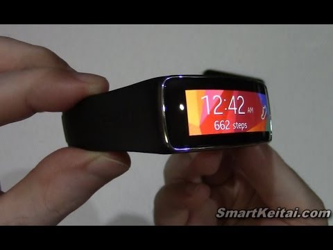 Samsung Gear Fit Unboxing and First Look Review with Galaxy Note 3