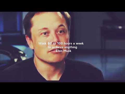 Elon Musk work ethic tips | whatsapp inspirational status