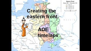 Building the eastern front | AOE 2 time-laps