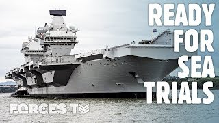 HMS Prince Of Wales: The British Aircraft Carrier Ready For Its First Sea Trials | Forces TV