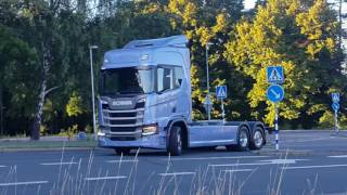 New Scania leaving Nordic Throphy 2016