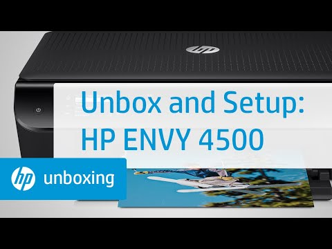 Unboxing and Setting Up the HP Envy 4500 e-All-in-One Printer